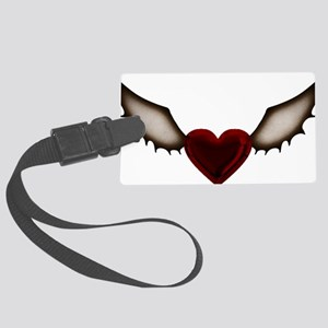Dark Wing Heart Large Luggage Tag