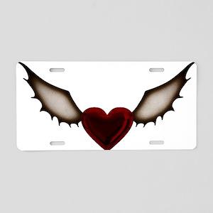 Dark Wing Heart Aluminum License Plate