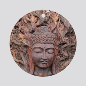 Asian Woodcarving Round Ornament