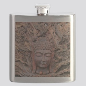 Asian Woodcarving Flask