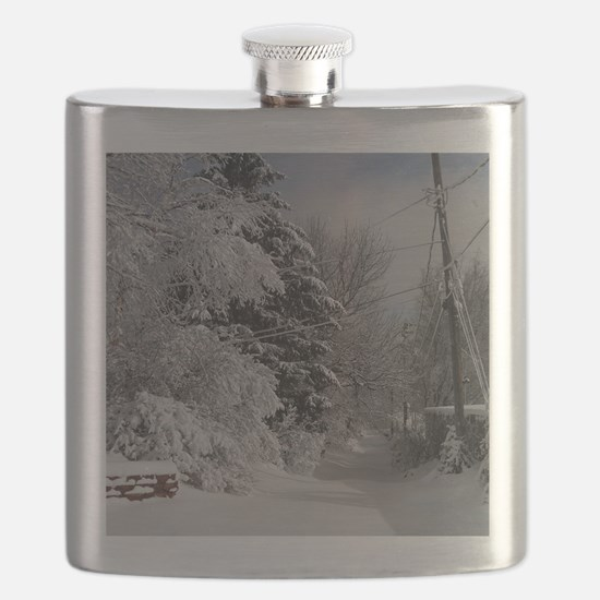 Oval Ornament Flask
