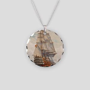sas_shower_curtain Necklace Circle Charm