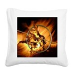 Mocking Hunger Fire Square Canvas Pillow
