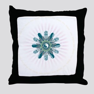 Om Shanti Lotus Throw Pillow