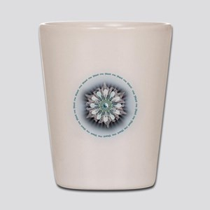 Om Shanti Lotus Shot Glass