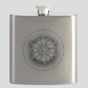 Om Shanti Lotus Flask
