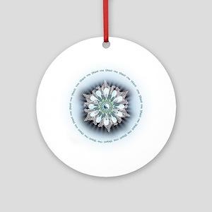 Om Shanti Lotus Round Ornament