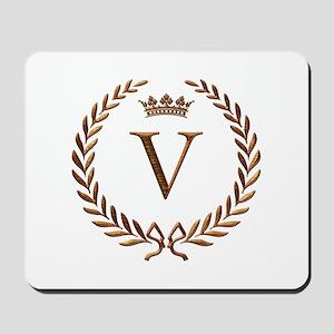 Napoleon initial letter V monogram Mousepad