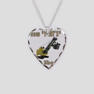 Now Thats a shovel Necklace Heart Charm