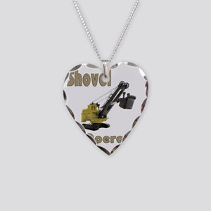 Front Shovel Operator Necklace Heart Charm