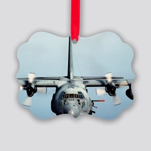C-130 Spooky Aircraft Picture Ornament