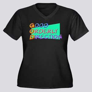 GOD Good Orderly Direction Women's Plus Size V-Nec