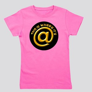 Where Its At @ Symbol Design Girl's Tee