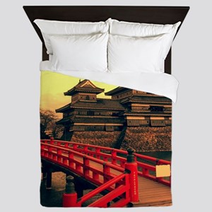 Pagoda with Bridge Queen Duvet