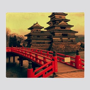 Pagoda with Bridge Throw Blanket