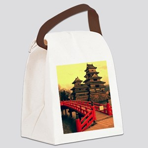 Pagoda with Bridge Canvas Lunch Bag