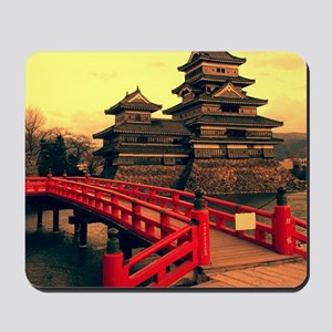 Pagoda with Bridge Mousepad