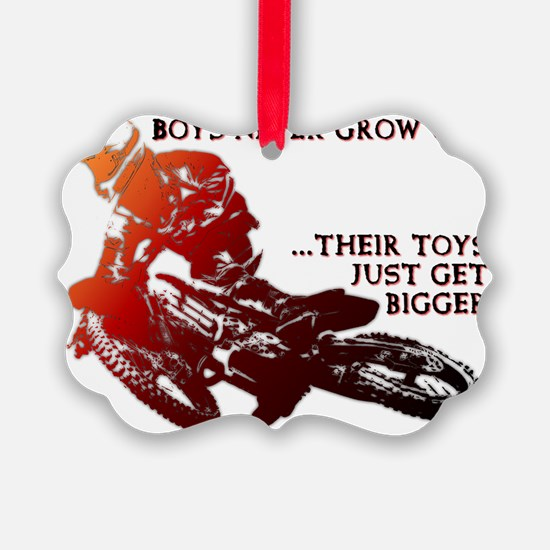 Bigger Toys Dirt Bike Motocross F Ornament