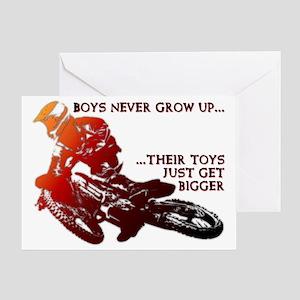 Bigger Toys Dirt Bike Motocross Funn Greeting Card
