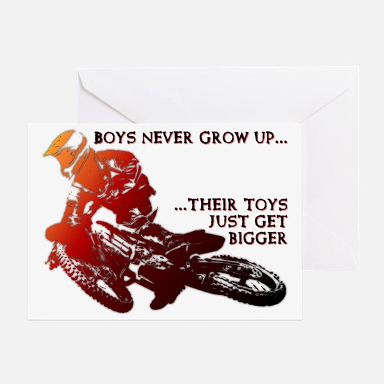 Bigger Toys Dirt Bike Motocross Funn Greeting Card