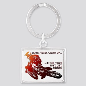 Bigger Toys Dirt Bike Motocross Landscape Keychain