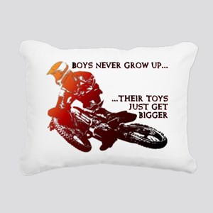 Bigger Toys Dirt Bike Mo Rectangular Canvas Pillow