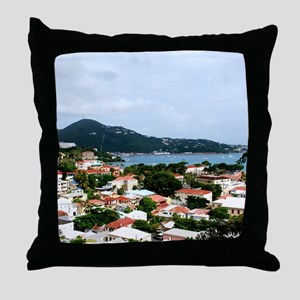 Charlotte Amalie, St. Thomas USVI Throw Pillow