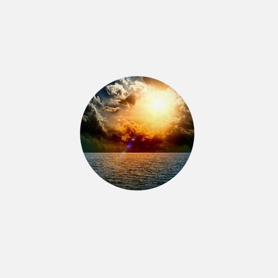 Ocean Sunset Mini Button