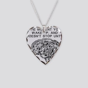 Skydiving Brain Stops Working Necklace Heart Charm