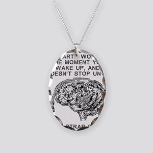 Skydiving Brain Stops Working  Necklace Oval Charm