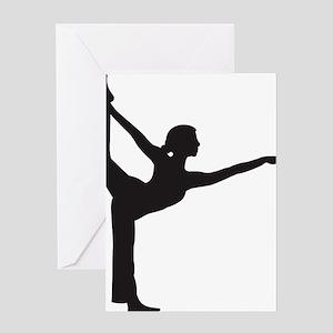 Bikram Yoga Bow Pose Greeting Card