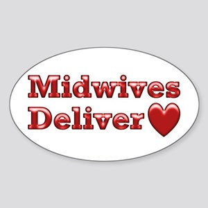 Delivering Love With This Oval Sticker