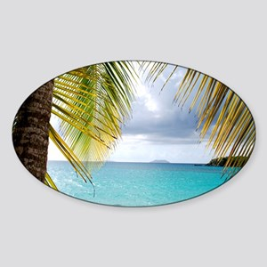 Cinnamon Bay, St. John USVI Sticker (Oval)