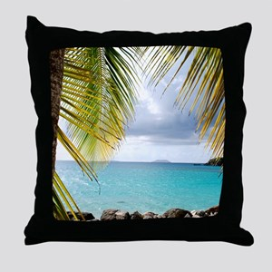 Cinnamon Bay, St. John USVI Throw Pillow