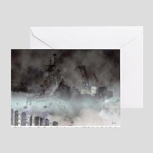 Ghost Ship - Battleship USS North Ca Greeting Card