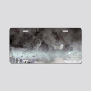 Ghost Ship - Battleship USS Aluminum License Plate