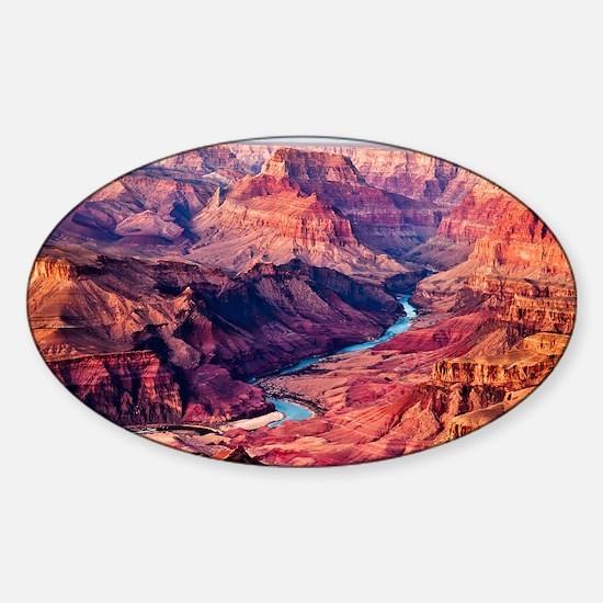 Grand Canyon Landscape Photo Sticker (Oval)