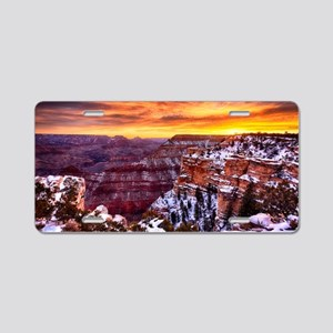 Grand Canyon Landscape at S Aluminum License Plate