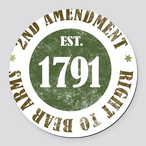 2nd Amendment Est. 1791 Round Car Magnet