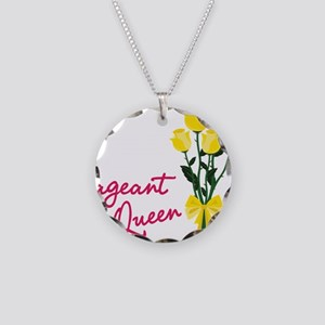 Pagent Queen Necklace Circle Charm