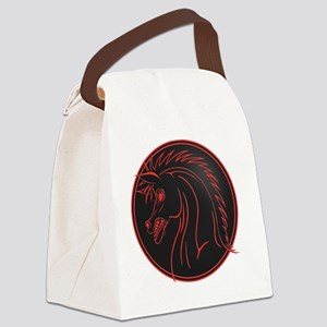 horse-evil-T Canvas Lunch Bag