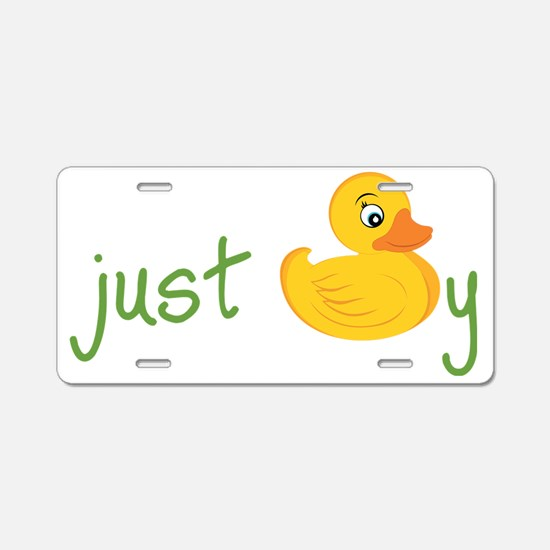 Just Ducky Aluminum License Plate
