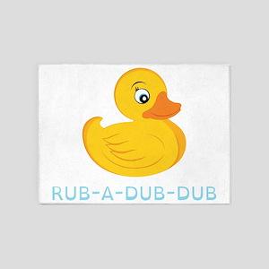 Rub A Dub Dub 5'x7'Area Rug