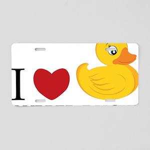 Love Rubber Ducks Aluminum License Plate