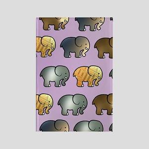 Golden Elephants Rectangle Magnet