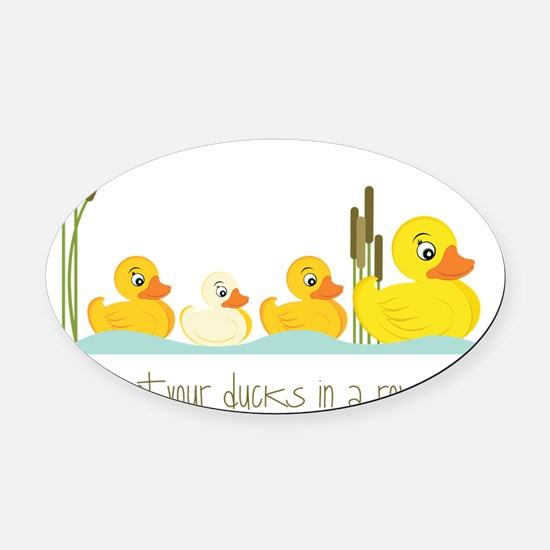 In A Row Oval Car Magnet