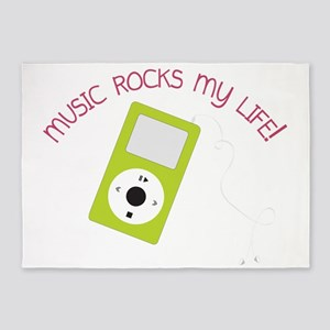Music Rocks 5'x7'Area Rug