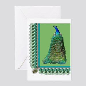 Pop-Peacock Medium Greeting Card