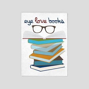 Eye Love Books 5'x7'Area Rug