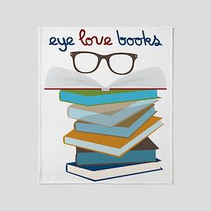 Eye Love Books Throw Blanket